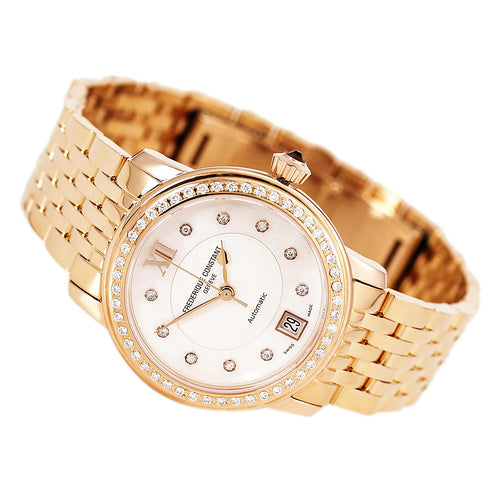 Frederique Constant 303WHF2PD4B3 Women's World Heart Federation MOP Dial Automatic Diamond Watch