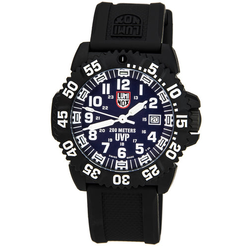 Luminox 3054.SET Mens Sea Scott Cassell Specials UVP Blue Dial Rubber Strap Plastic Dive Watch