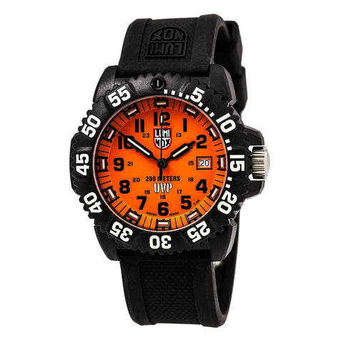 Luminox 6265 Men's Modern Mariner 6250 Black Dial Black Leather Strap Dive Watch