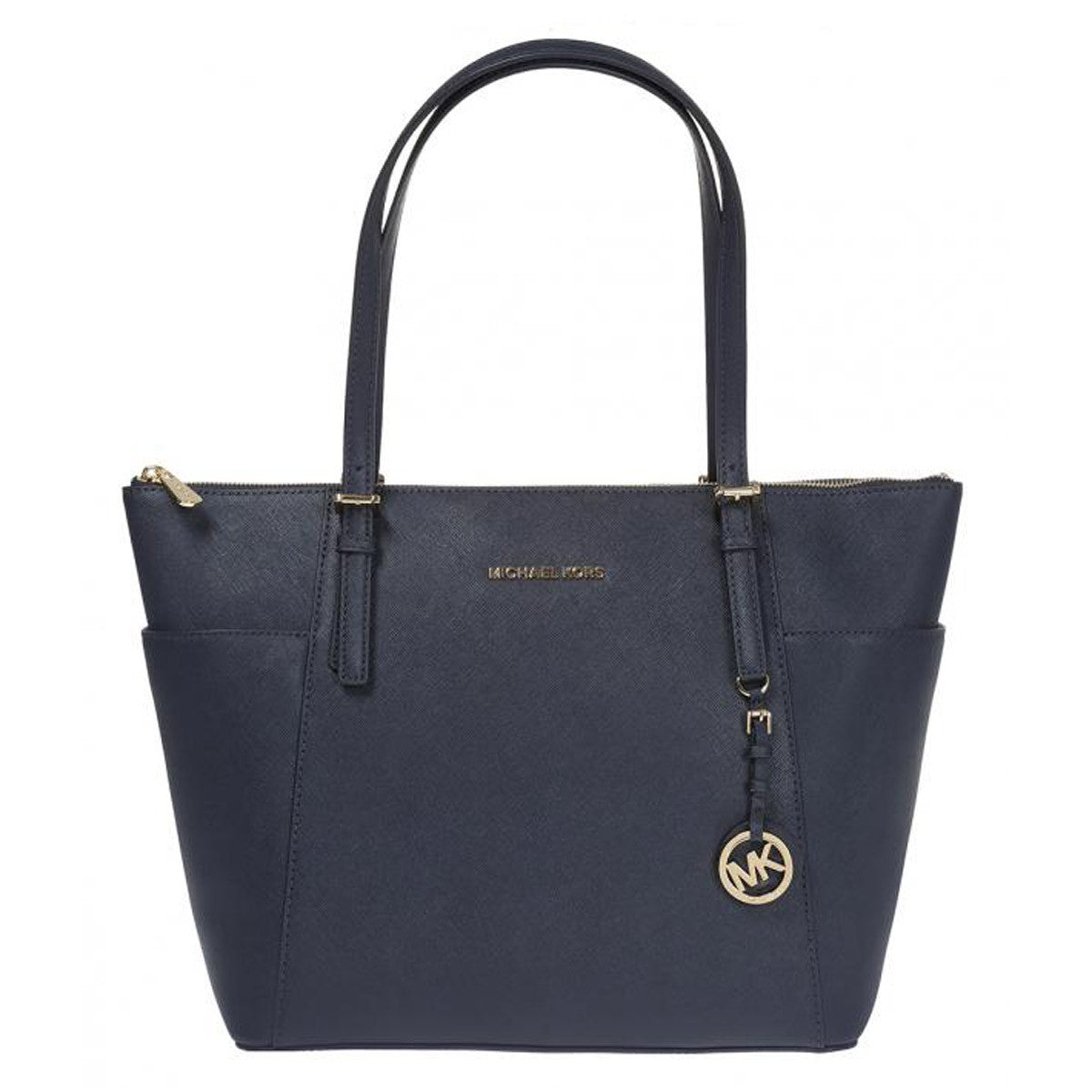 Michael Kors 30F4GTTT9L-414 Women's Jet Set Large Admiral Blue Saffiano Leather Tote