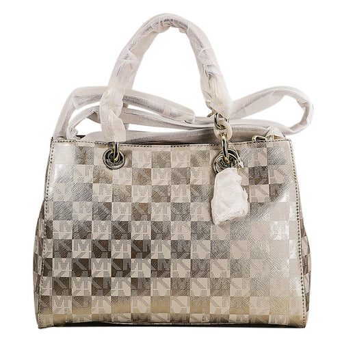 Michael Kors 30F5GCYS2I-710 Women's Cynthia Gold Tone PVC Medium Satchel