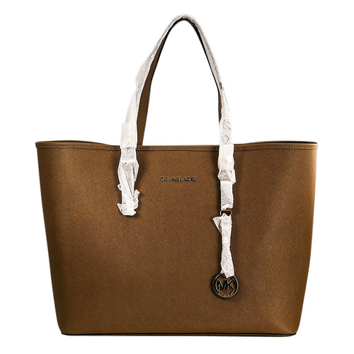 Michael Kors 30H1GTVT2L-230 Women's Jet Set Travel Luggage Saffiano Leather Medium Tote