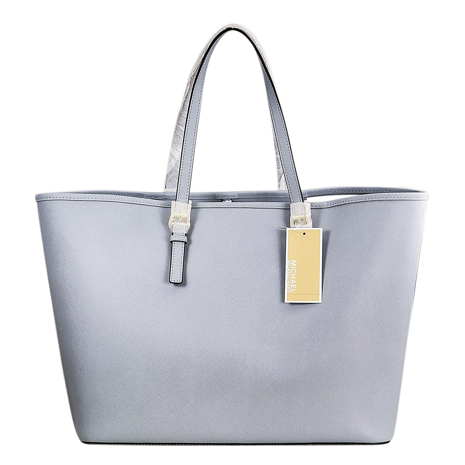 Michael Kors 30H1GTVT2L-487 Women's Jet Set Travel Pale Blue Saffiano Leather Medium Tote