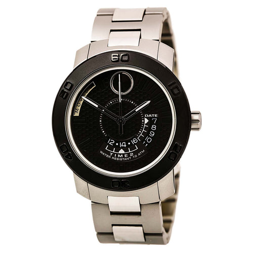 Movado 3600383 Men's Bold Black Dial Stainless Steel Bracelet Watch