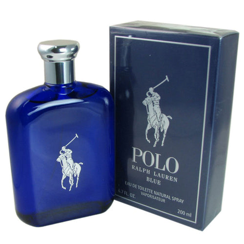 Ralph Lauren Men's Polo Blue Eau de Toilette Spray, 6.8 Fluid Ounce