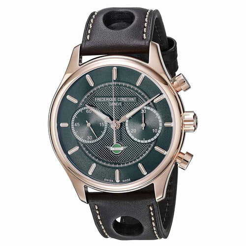 Frederique Constant 397HDG5B4 Men's Vintage Rally Healey Chronograph Black Dial Automatic Watch