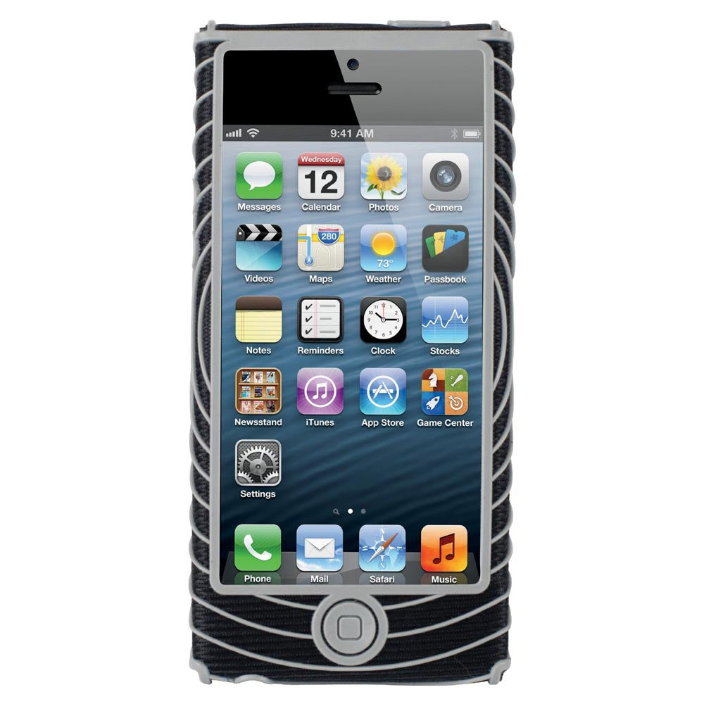 Nathan 4926NBS Sonic Grip for iPhone 5, Black/Silver, One Size 4926NBS
