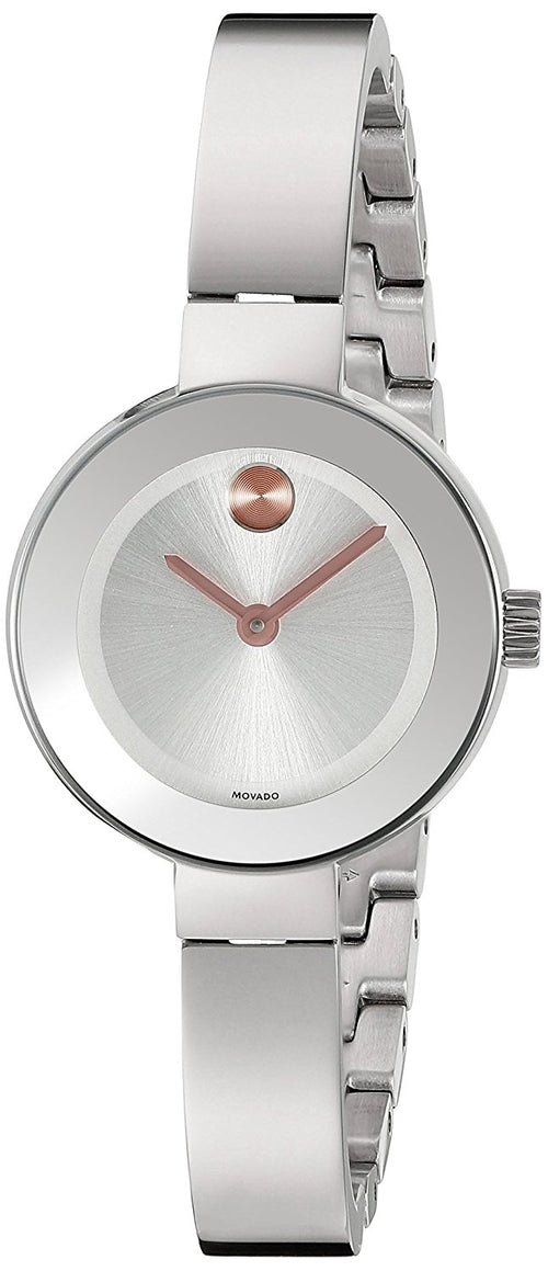 Movado Bold Silver Dial Stainless Steel Quartz Ladies Watch 3600284