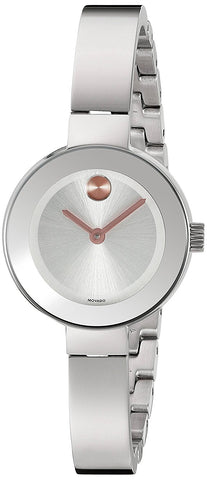 Movado Bold Glitter Dial Rose Gold IP Stainless Steel Womens Watch 3600335
