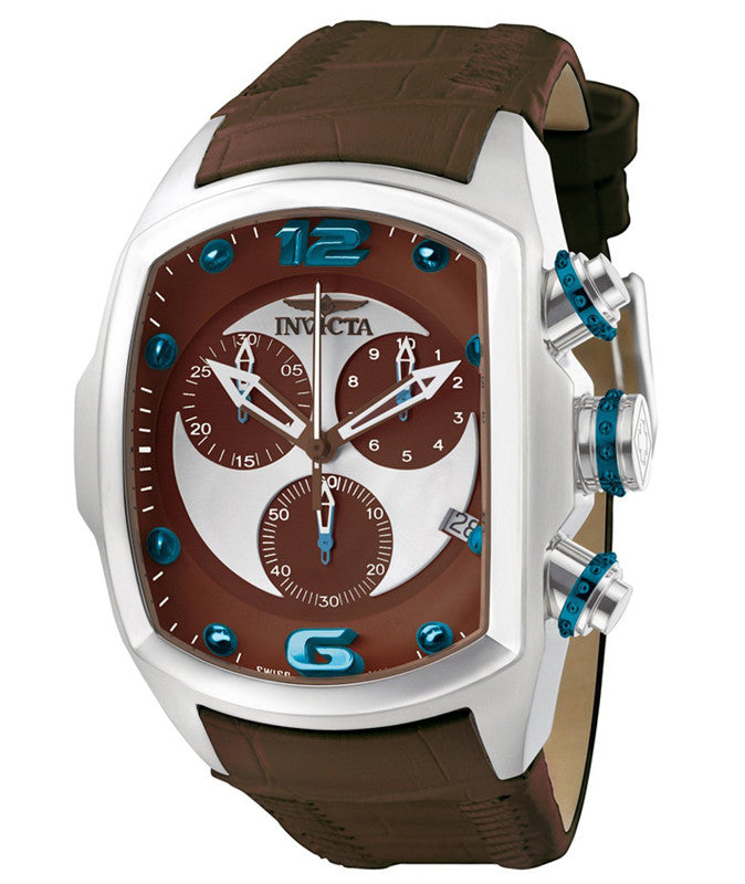 Invicta 6094 Men's Lupah Brown Leather Strap Chronograph Watch