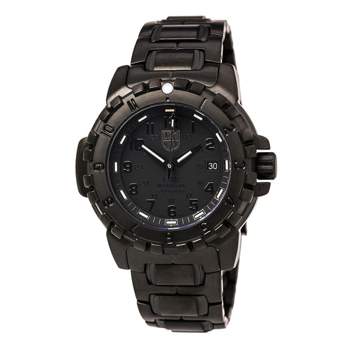 Luminox 6402.BO Men's Air F-117 Nighthawk Blackout Black Dial Black IP Steel Bracelet Dive Watch