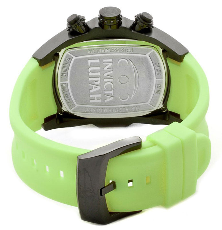 Invicta 6725 Men's Lupah Black IP Green Rubber Chronograph Watch