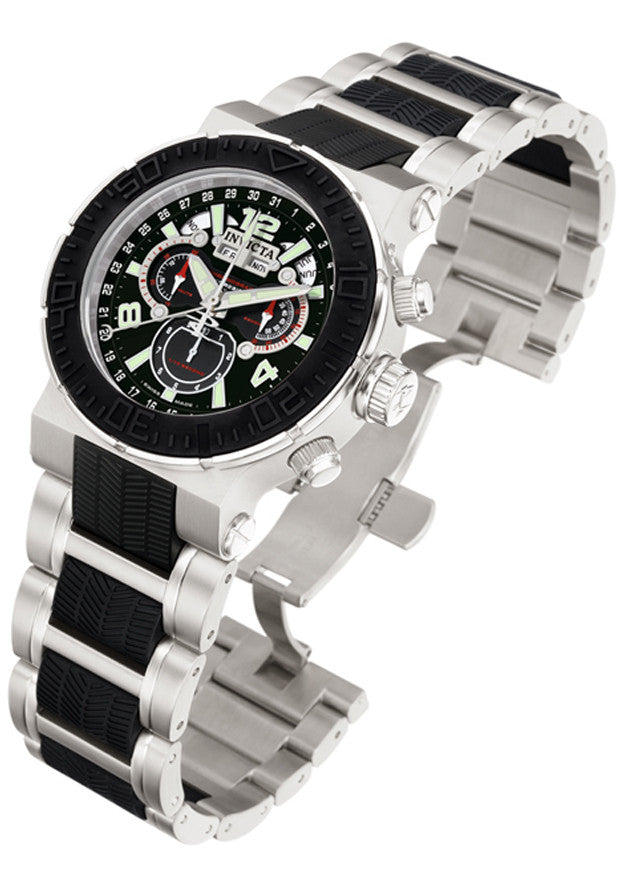 Invicta Men's Reserve Chronograph Black Dial Stainless Steel & Black Polyurethane 6773