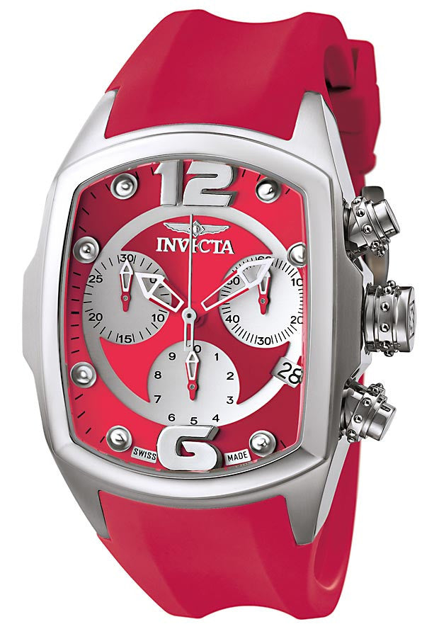 Invicta 6834 Women's Lupah Revolution Collection Chronograph Red Polyurethane Watch