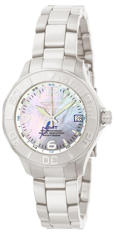 Invicta 6890 Women's Mother of Pearl Dial Quartz GMT Watch