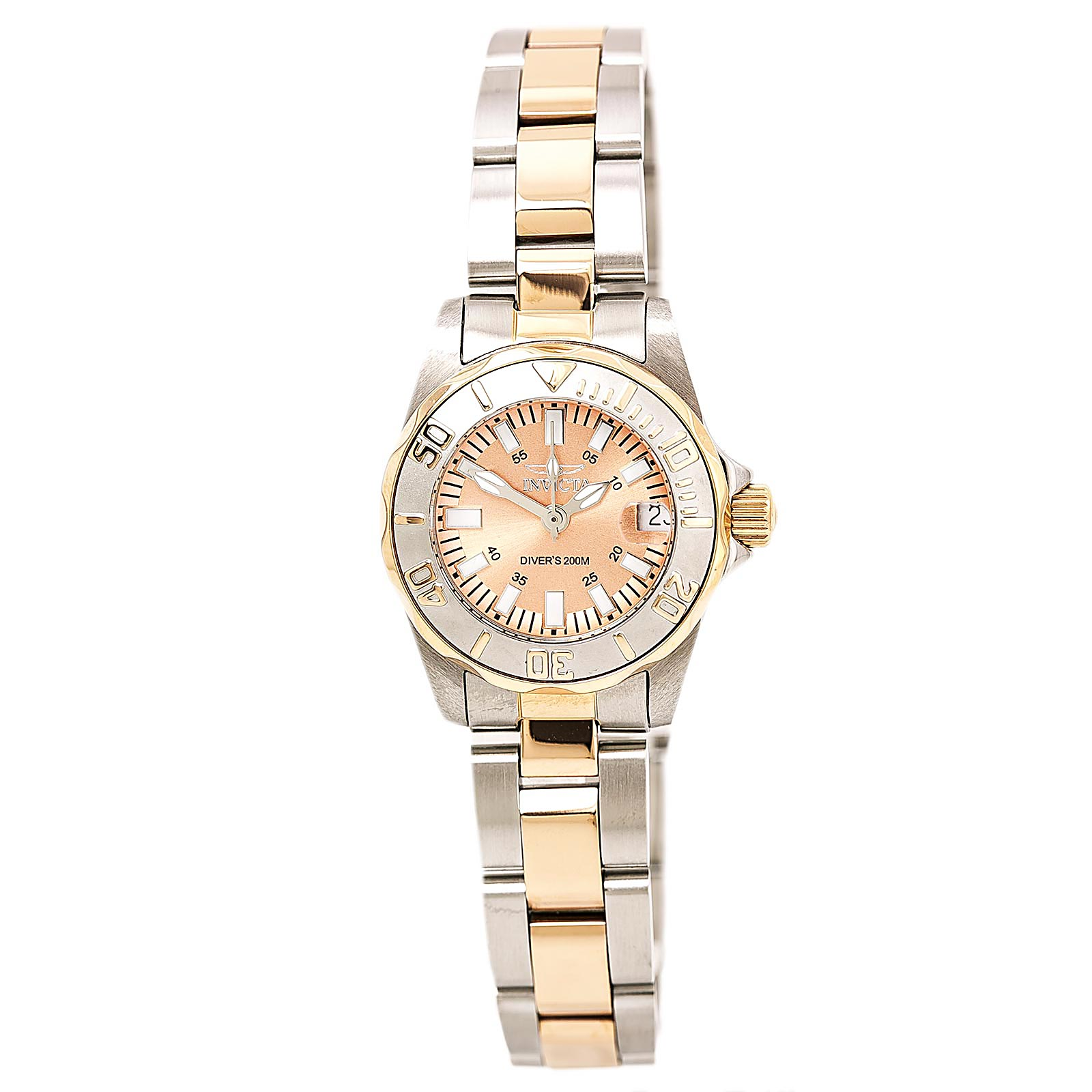 Invicta 7067 Women's Two Tone Rose Swiss Dive Watch
