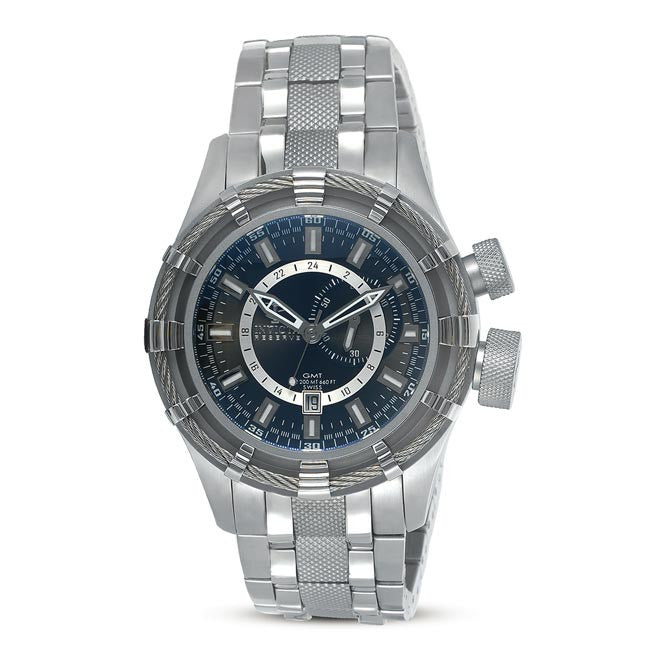 Invicta 7250 Men's Signature Bolt Swiss Stainless Steel Blue Dial Dive Watch