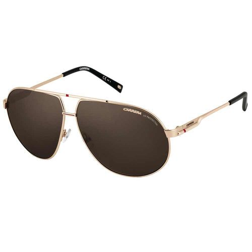 Carrera 82O70 Unisex Aviator Style Gold Metal Frame Brown Polarized Lenses Sunglasses