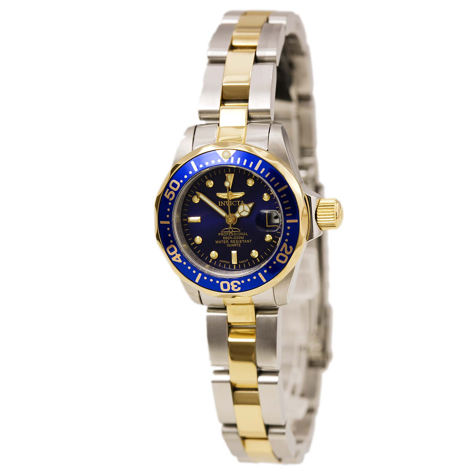 Invicta Women's Pro Diver Blue Dial Two Tone Stainless Steel 8942