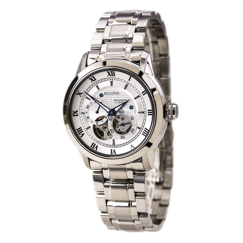 Bulova 96A118 Men's BVA Series Stainless Steel Dual Aperture White Dial Watch