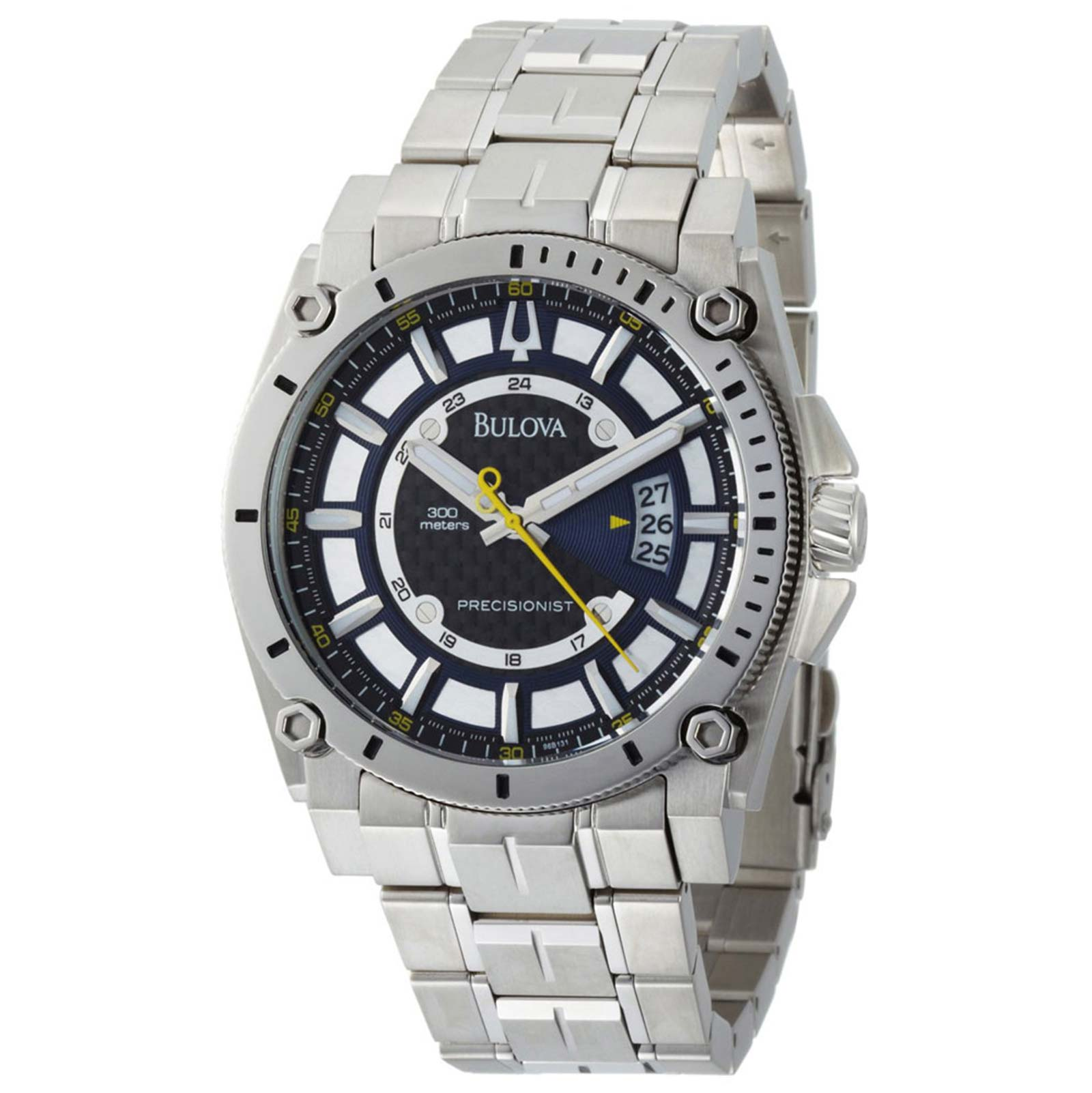 Bulova 96B131 Men's Precisionist Steel Blue Dial Quartz Watch