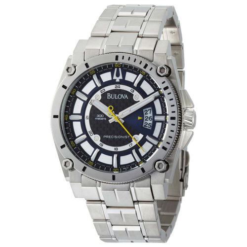Bulova 96B131 Men's Precisionist Super Accurate Stainless Steel Blue Dial Quartz Watch