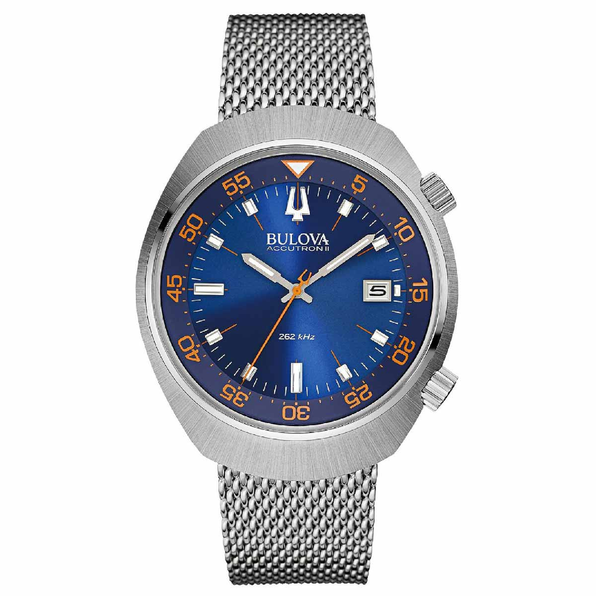 Bulova 96B232 Men's Accutron II Lobster Blue Dial Steel Mesh Bracelet Watch