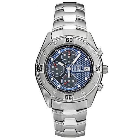 Bulova 96A177 Men's Classic Silver Dial Steel Bracelet Chronograph Watch