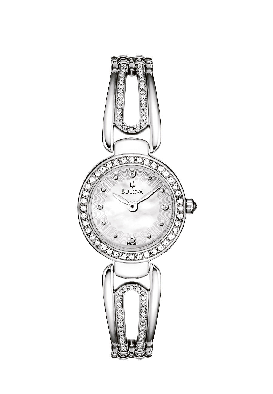 Bulova Ladies Crystal MOP Watch 96L126