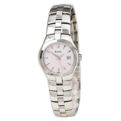 Bulova 96M101 Women's Pink MOP Dial Steel Bracelet Dress Watch