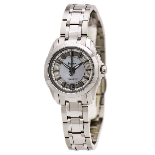Bulova 96M108 Women's Precisionist Longwood MOP Dial Steel Bracelet Watch