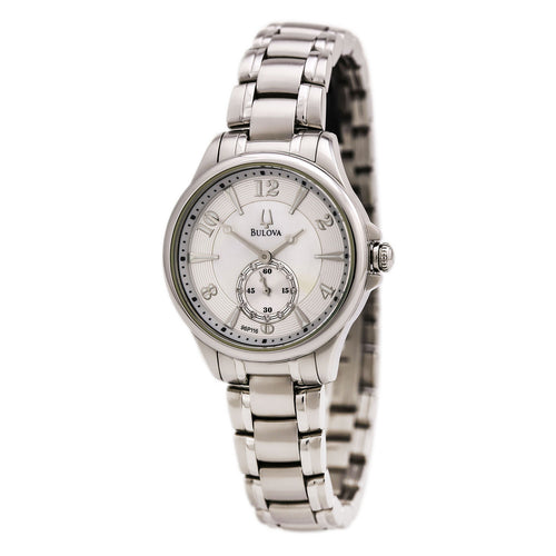 Bulova 96P116 Women's Adventurer White MOP Dial Quartz Steel Bracelet Watch