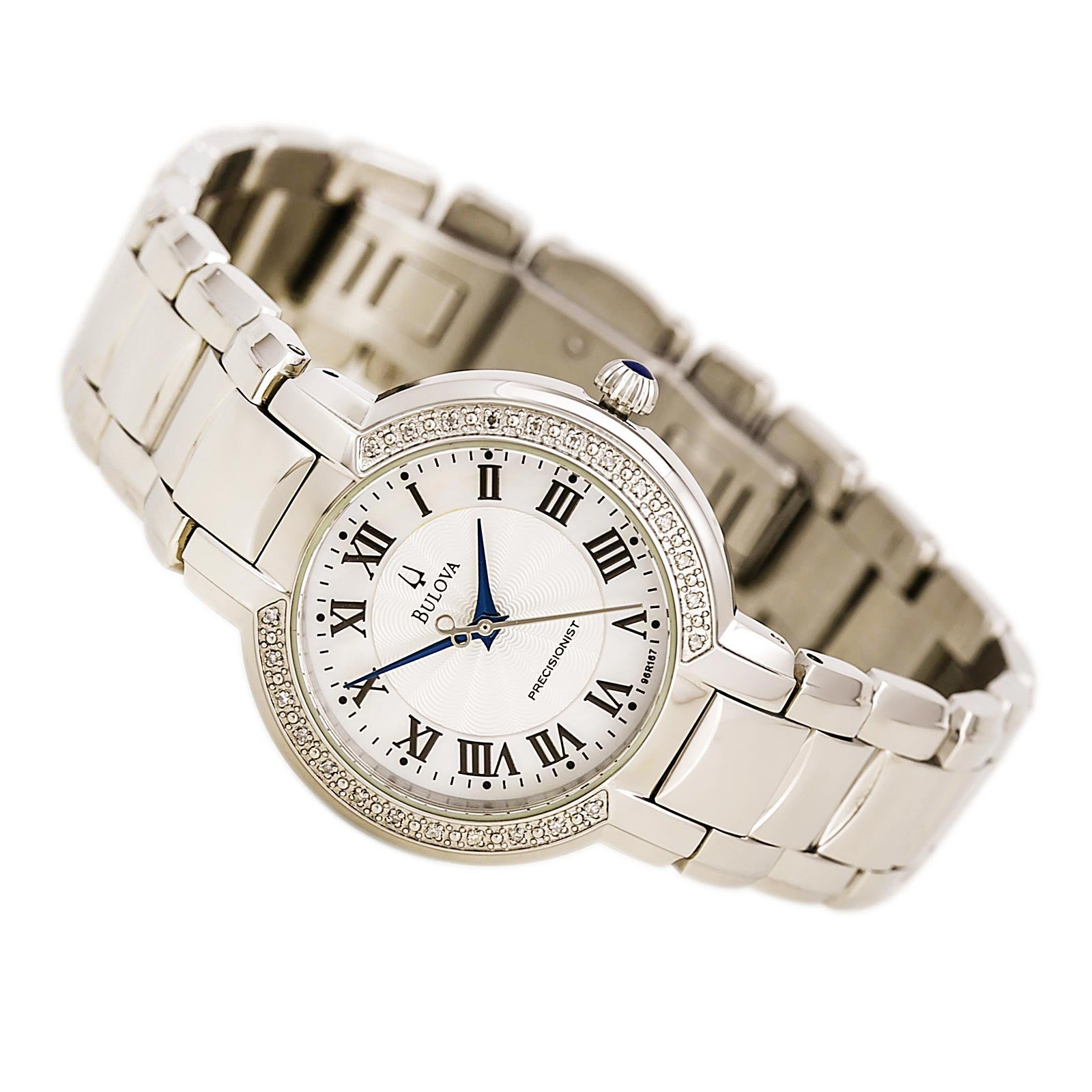 Bulova 96R167 Women's Fairlawn Precisionist Diamond MOP Dial Steel Bracelet Watch