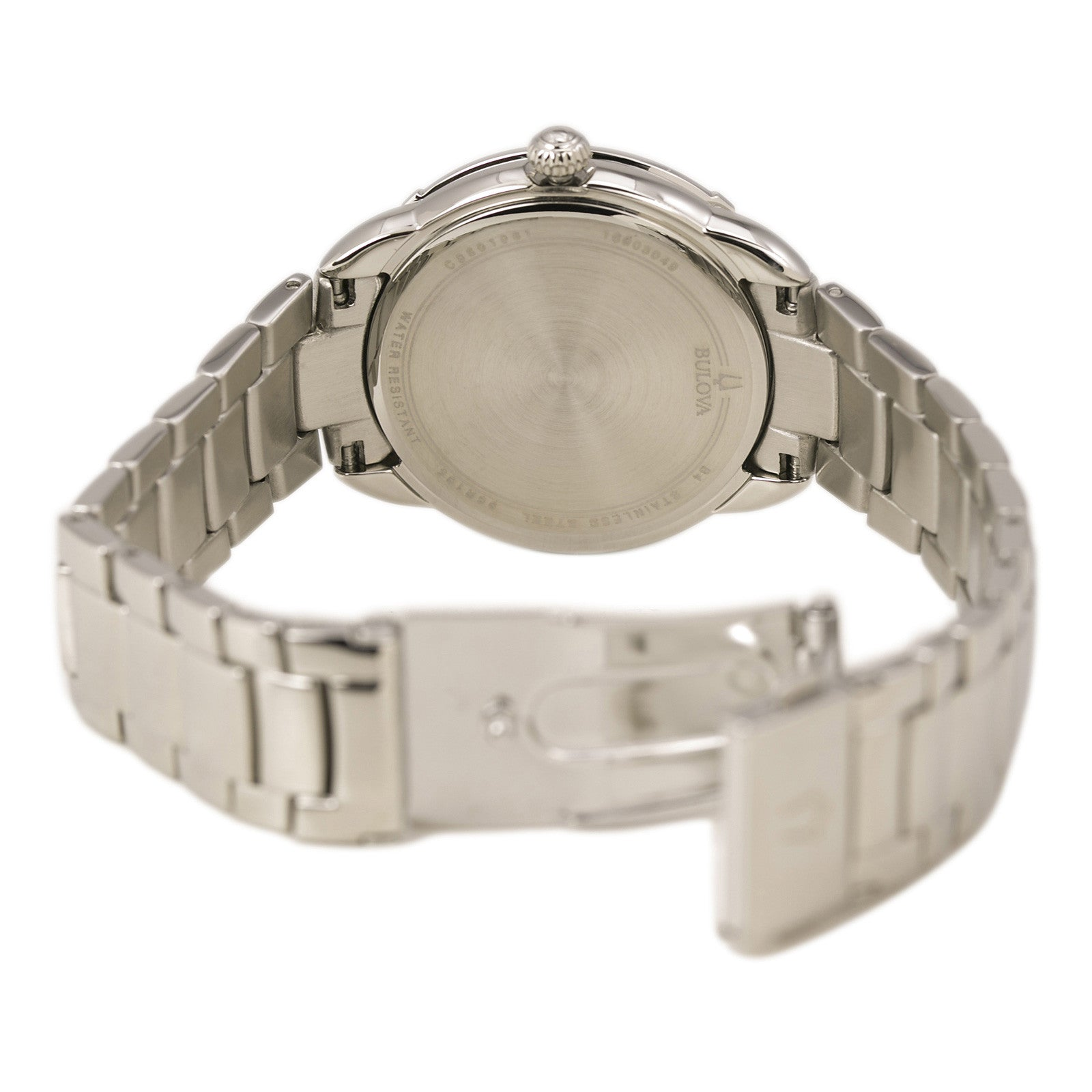 Bulova 96R195 Women's Maribor Diamond Stainless Steel Silver Dial Watch