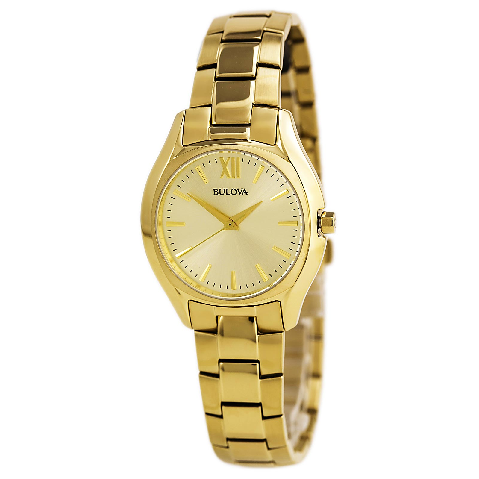 Bulova 97L150 Women's Classic Gold Tone Dial Yellow Gold Steel Bracelet Watch