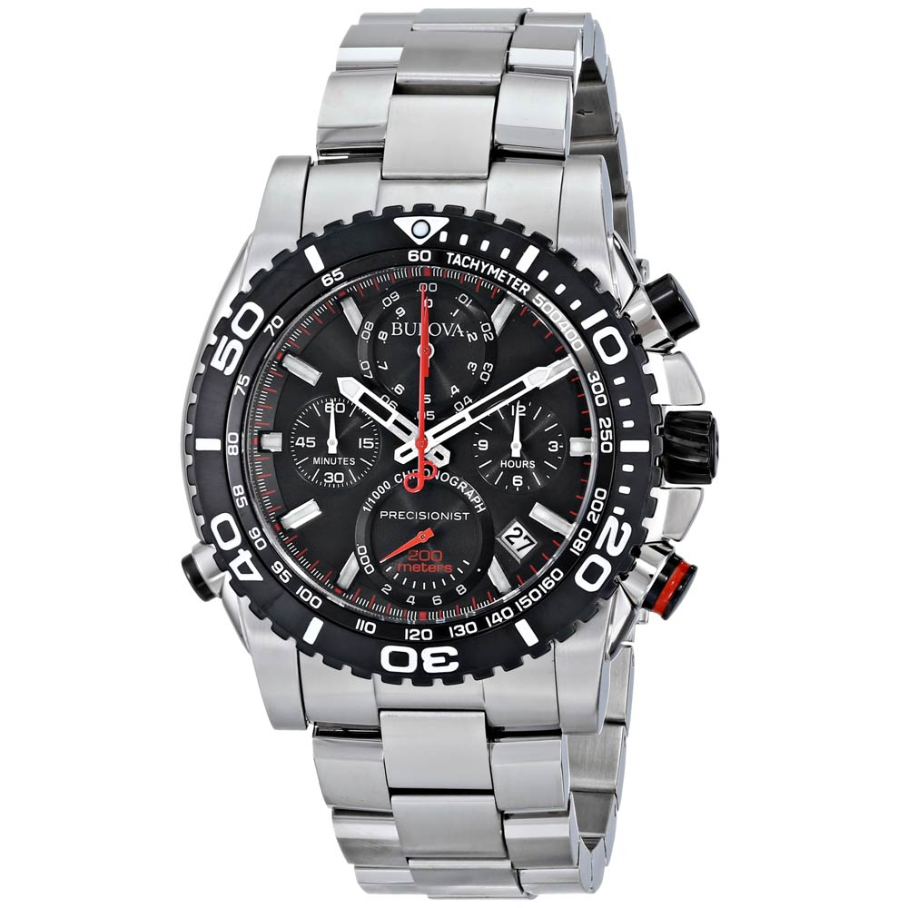 bulova 98b212 men s precisionist black dial stainless steel bulova 98b212 men s precisionist black dial stainless steel chronograph dive watch