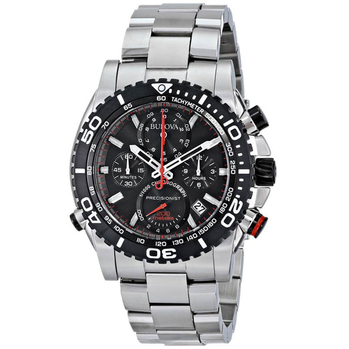 Bulova 98B212 Men's Precisionist Black Dial Stainless Steel Chronograph Dive Watch