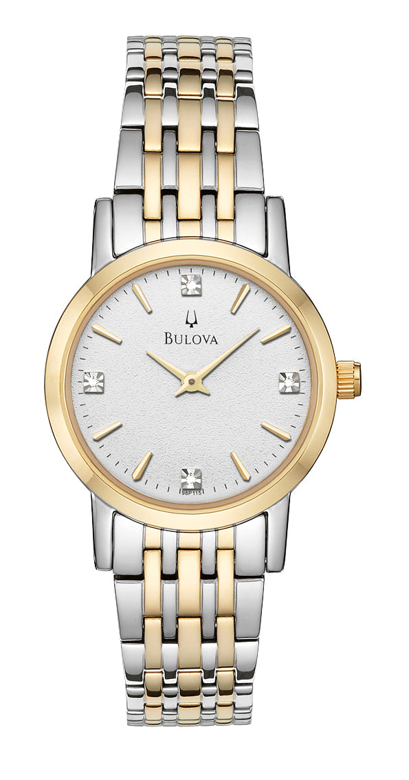 Bulova 98P115 Women's Diamond Two Tone Watch