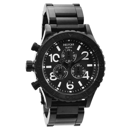Nixon A037001 Men's 42-20 Tide Black Ion Plated Stainless Steel Chronograph Dive Watch