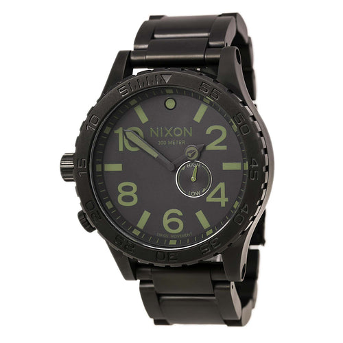 Nixon A0571042 Men's 51-30 Tide Black Ion Plated Stainless Steel Black Dial Swiss Watch