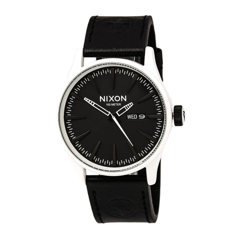 Nixon A0452064 Men's The Time Teller Black Dial Stainless Steel Bracelet Watch