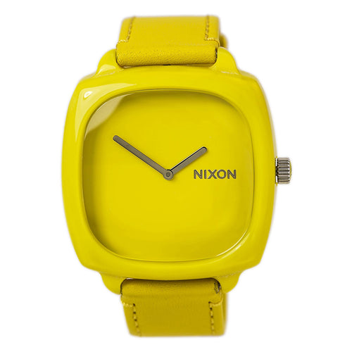 Nixon A167640 Women's The Shutter Yellow Dial Yellow Leather Strap Watch