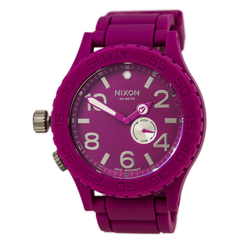 Nixon A236644 Men's The Rubber 51-30 Pink Dial Pink Rubber Strap Dive Lefty Watch