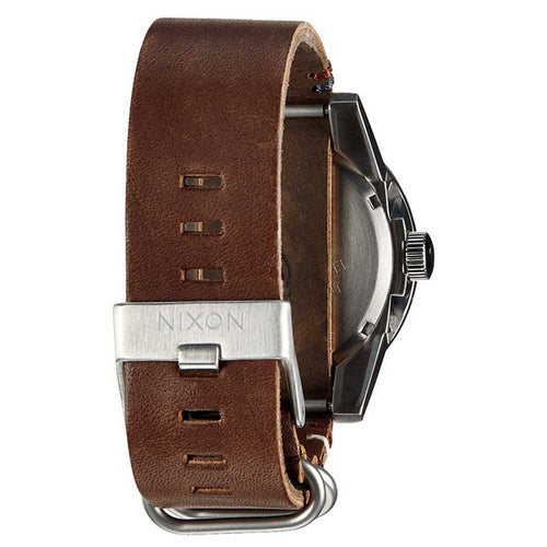 Nixon A243019 Men' s The Corporal Black Dial Brown Leather Strap Watch