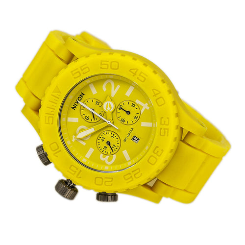 Nixon A309250 Unisex Lefty The Rubber 42-20 Chrono Story Yellow Dive Watch