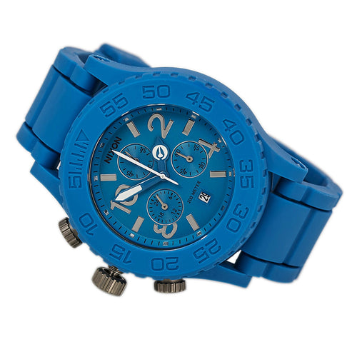 Nixon A309917 Unisex Lefty The Rubber 42-20 Chrono Story Blue Dive Watch
