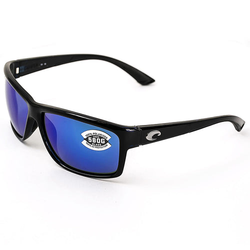 Costa Del Mar AA11OBMGLP Mag Bay Polarized Blue Mirror 580G Lenses Shiny Black TR 90 Nylon Frame Sunglasses