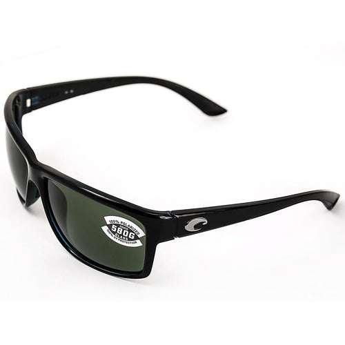 Costa Del Mar AA11OGGLP Mag Bay Shiny Black TR 90 Nylon Frame Polarized Grey 580G Lenses Sunglasses