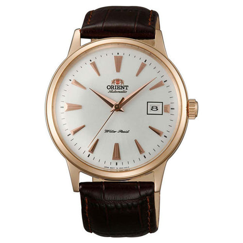 Orient AC00002W Men's Bambino II White Dial Dark Brown Leather Strap Automatic Watch