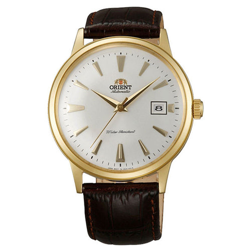 Orient AC00003W Men's Bambino II Automatic White Dial Dark Brown Leather Strap Watch